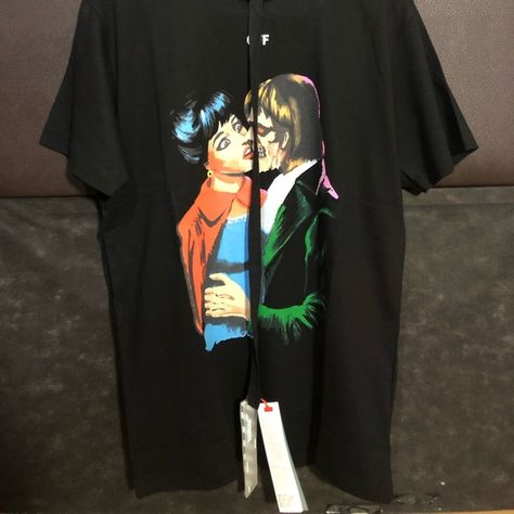 d7cd9be5 Off-White Kiss Tshirt Kiss graphic print cotton T-shirt Reimagined street  style is Off-White's power move. Comfortable, casual-wear staples are given  a ...