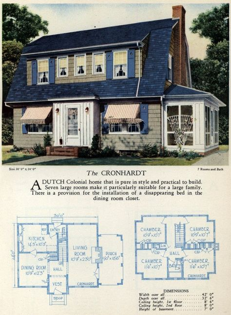 62 beautiful vintage home designs & floor plans from the