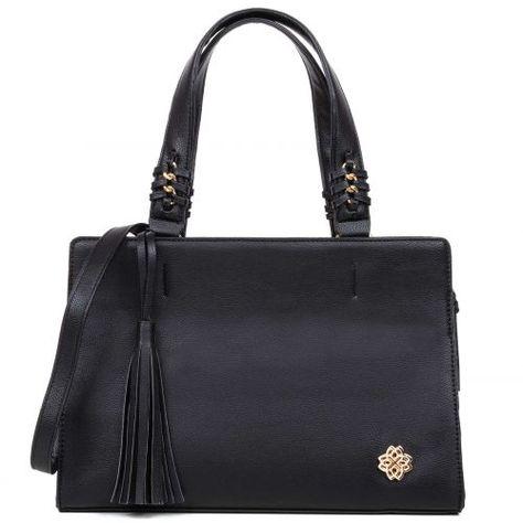 Μαυρη τσάντα με φούντα  fd05c8c57e4