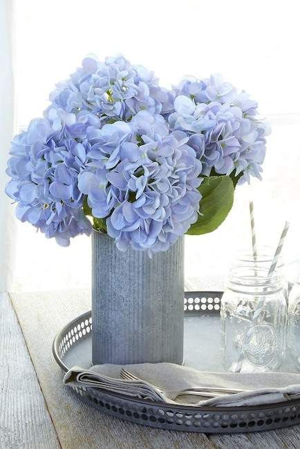 Heart To Heart Blue Artificial Hydrangea Flowers Set Of 3 Nordstrom Rack Artificial Hydrangea Flowers Hydrangea Flower Artificial Hydrangeas