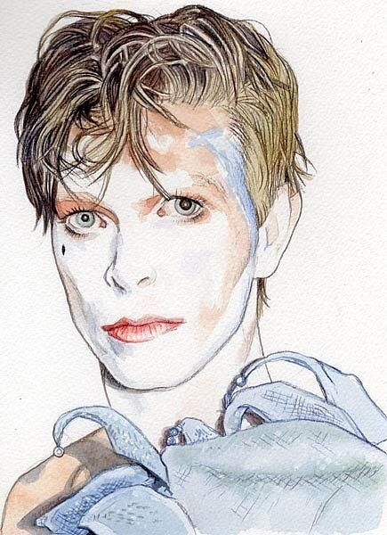 "vezzipuss tumblr com — David Bowie ""Ashes To Ashes"", Circa 80, By"