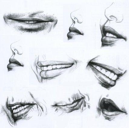 Dibujo al natural Dibujando la boca  Cuerpito lindo