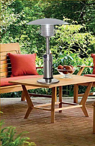 This Sleek Designed Table Top Patio Heater Is Both Portable And Easy To Use With It S 10 000 Btu S You Can Be S In 2020 Best Patio Heaters Patio Heater Portable Table