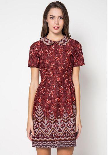 35 Model Dress Batik Modern Masa Kini 2018 Terbaru 1000