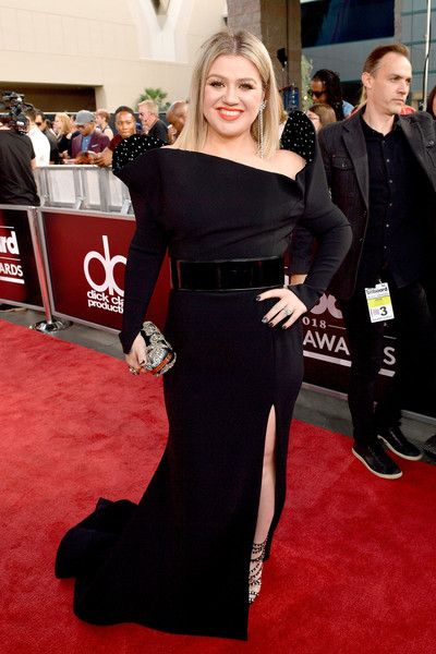 Recording artist Kelly Clarkson attends the 2018 Billboard Music Awards at MGM Grand Garden Arena.