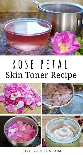 How To Make Rose Water Toner Using Fresh Rose Petals Lovely Greens Homemade Rose Water Handmade Lotions Fresh Rose Petals