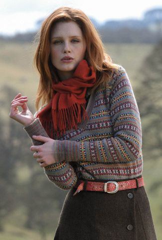 Cashmere Fair Isle V Neck Jumper | Town & Country | Pinterest ...