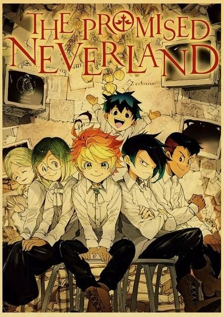 The Promised Neverland Poster Prints - 42X30 CM / E181 14