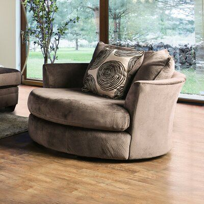 Latitude Run Lavelle Swivel Armchair Upholstery Colour Brown Chair A Half Swivel Barrel Chair Swivel Chair