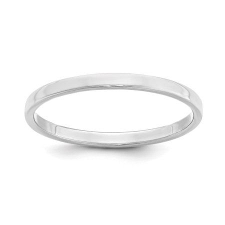 JewelrySuperMart Collection Sterling Silver 3mm Plain Flat Classic Comfort-fit Wedding Band