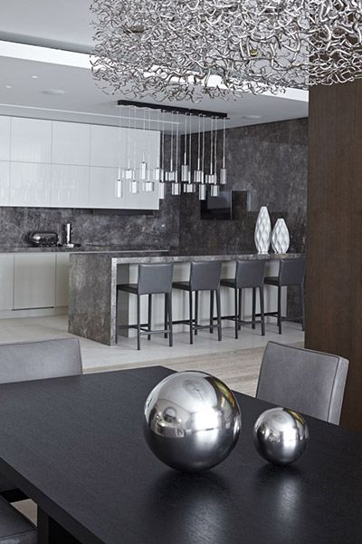 Contemporary kitchen in contemporary Moscow apartment by Alexandra Fedorova