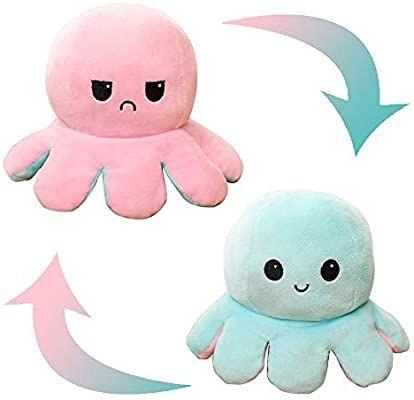 Colorful IWBI 1Pcs Poup/ée Mignonne Poulpe Double Face Flip Octopus en Peluche poup/ée danimaux en Peluche r/éversible Douce Poulpe,Cadeaux Jouets cr/éatifs color/és pour Enfants,Famille,Amis