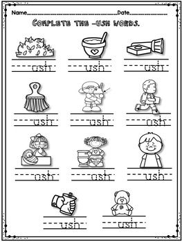 Pin On Word Families In word family worksheets for