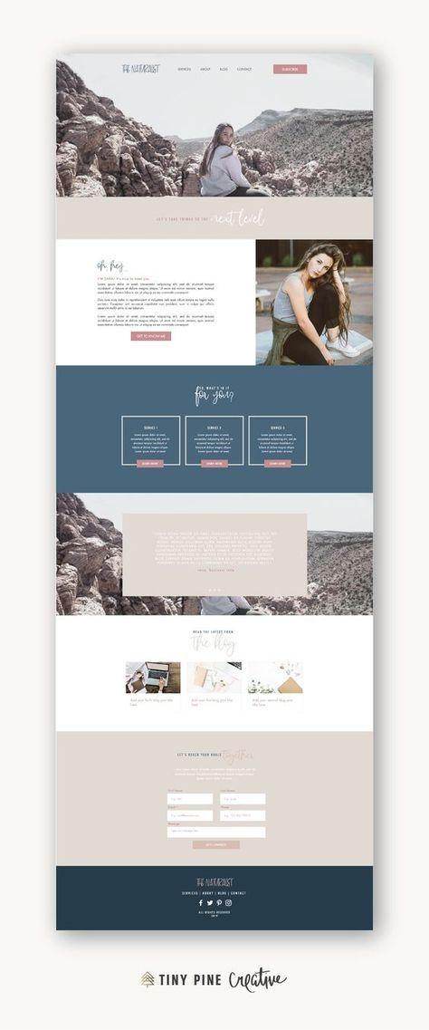 Feminine, Natural Layout Design Wix Website Template