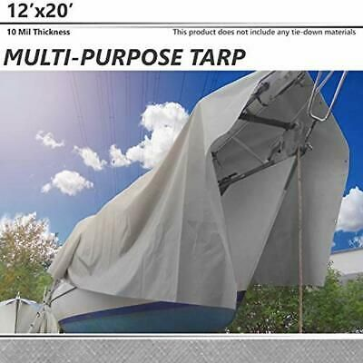 Sponsored Link 12 X Tarps 20 10 Mil Heavy Duty Thick Material Multi Purpose Waterproof With Pool Cover Canopy Tent Tarps