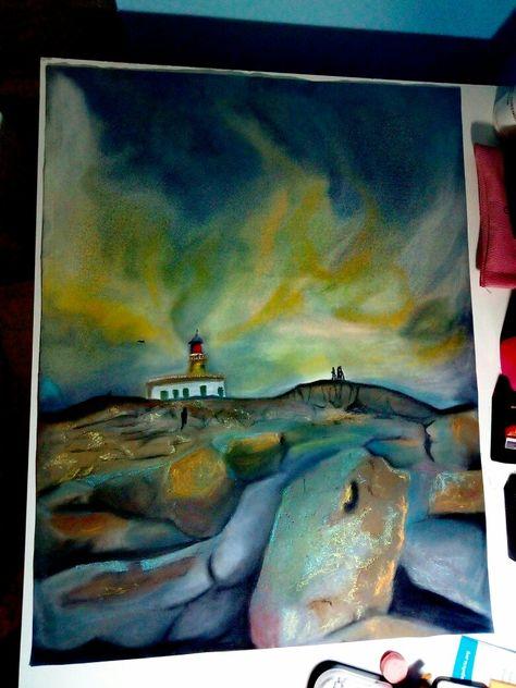 paint Pintura a pastel del Faro de...