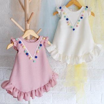 Toddler Summer Baby Girl Full Sleeve Cotton T-Shirt Dress Cloth Kids Top Designs