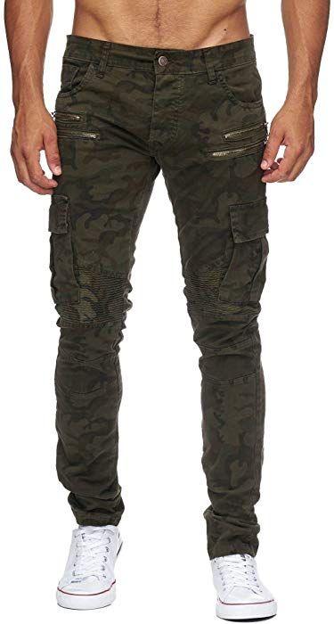 Megastyl Herren Biker Jeans Hose Cargo Taschen Stretch Denim Slim Fit Grosse W29 L32 Farbe Camouflage Amazon De Bekleidung Jeans Hosen Biker Bekleidung