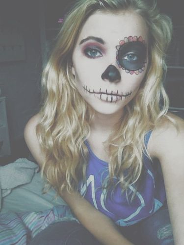 Day of the dead face paint 2k15halloween Pinterest Day of the - face painting halloween ideas