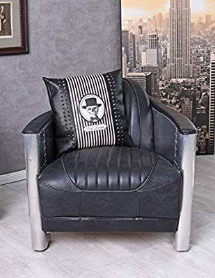 Sessel Vintage Leder Armlehnsessel Aluminium Loungesessel Cocktailsessel Palazzo Exklusiv Amazon De Kuche Haushalt Cocktailsessel Sessel Lounge Sessel