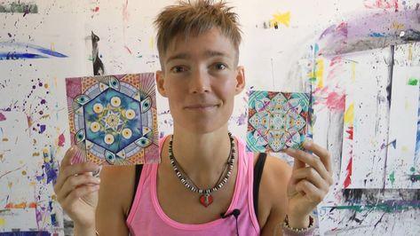 Pin By Nan Snow On Ulrike Hirsch Mandala Pattern Hand Fan