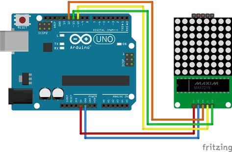 MAX7219-8x8 Punktmatrix für Arduino Raspberry Pi