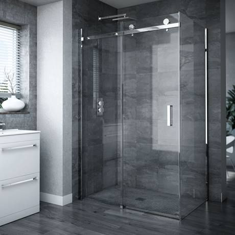 Nova Frameless 1400 X 900 Sliding Door Shower Enclosure Victorian Plumbing Uk In 2020 Frameless Sliding Shower Doors Frameless Shower Enclosures Shower Doors