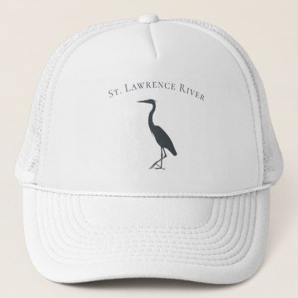 Coastal Migratory Bird Great Blue Heron Silhouette Trucker Hat Zazzle Com In 2020 Blue Heron White Egret Trucker Hat