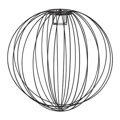 Nouveau Ikea Hemma métal pied de lampe de table Noir