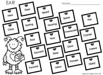 Valentine Friends NO PREP Articulation Worksheets *R,S,Z,L,F ...