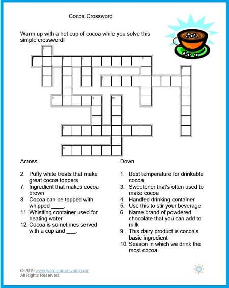 Printable Easy Crossword Puzzles Crossword Puzzles Crossword Printable Crossword Puzzles