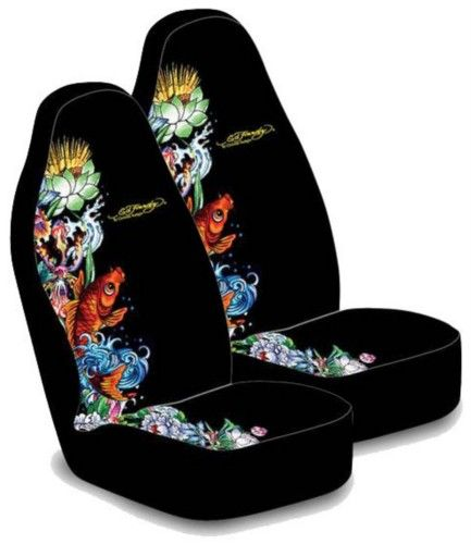 Ed Hardy Koi Fish Seat Cover Pair Everything4cars Bucket Seat Covers Ed Hardy Seat Covers