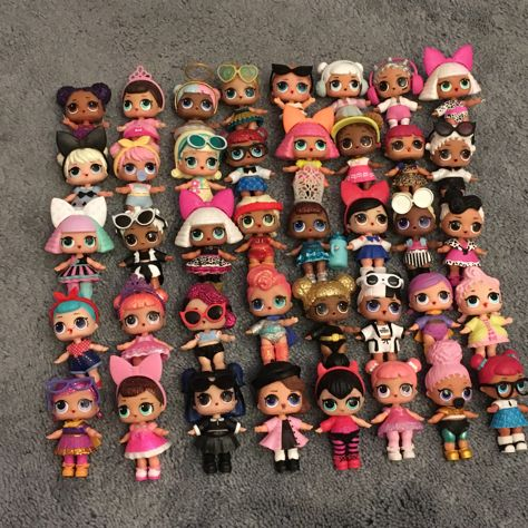 My Daughter S Lol Doll Collection Lolsurprise Loldolls Mgaentertainment Lol Dolls Baby Girl Toys Bunny Mom
