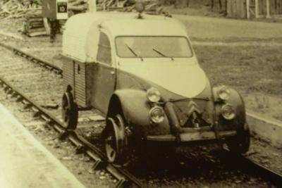 2cv Fourgonnette Draisine Rail Car Car Car Cars Trucks
