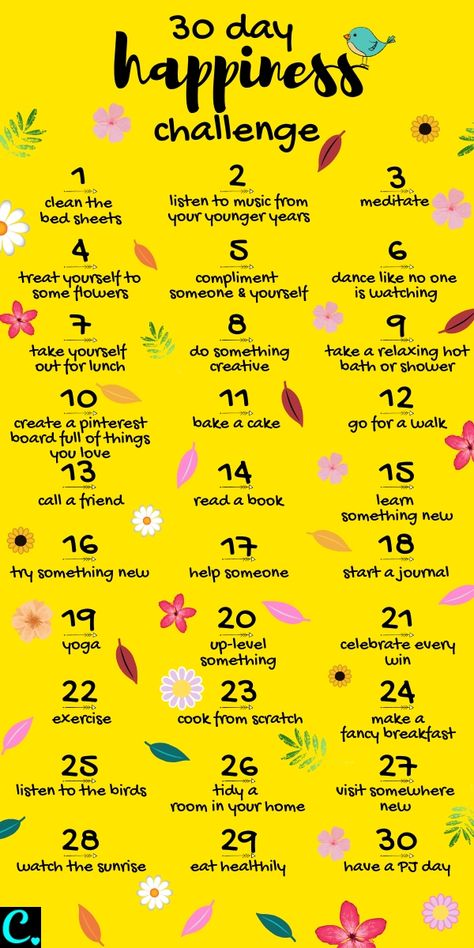30 Day Happiness Challenge Infrographic | how to be happy | how to increase happiness | self care | personal development | how to be happy in life #happinesschallenge #howtobehappy #30daychallenge #happiness #personaldevelopment #howtobehappyinfographic #infographic