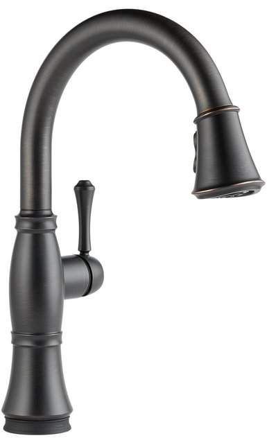 Cassidy Pull Down Touch Single Handle Kitchen Faucet With And Magnatite Docking Touch2o Technology And Diamond Seal Technology Kitchen Sink Faucets Bronze Kitchen Delta Faucets