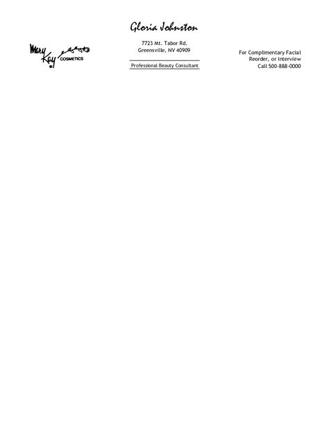 Free Printable Personal Letterhead Templates  Free Professional