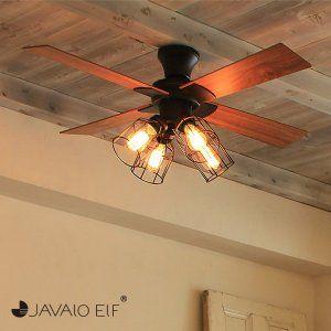 Javalo Elf Vintage Collection シーリングファン ブラック Je Cf001v
