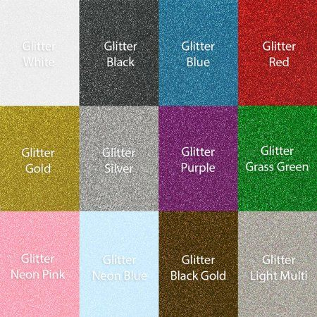 Siser Glitter Heat Transfer Vinyl 10 Inch X 12 Inch Sheets 12 Pack Top Colors Size 10 Inch X 12 Inch Multicolor Glitter Heat Transfer Vinyl Heat Transfer Vinyl Cheap Craft Supplies