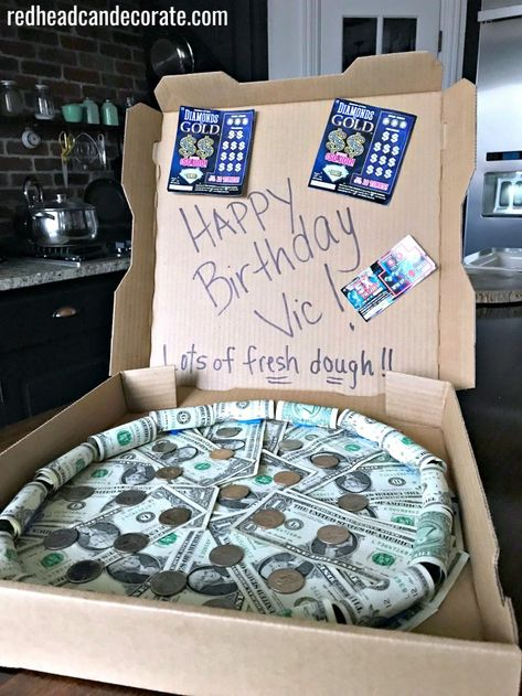 Money Pizza Pie Gift - Redhead Can Decorate