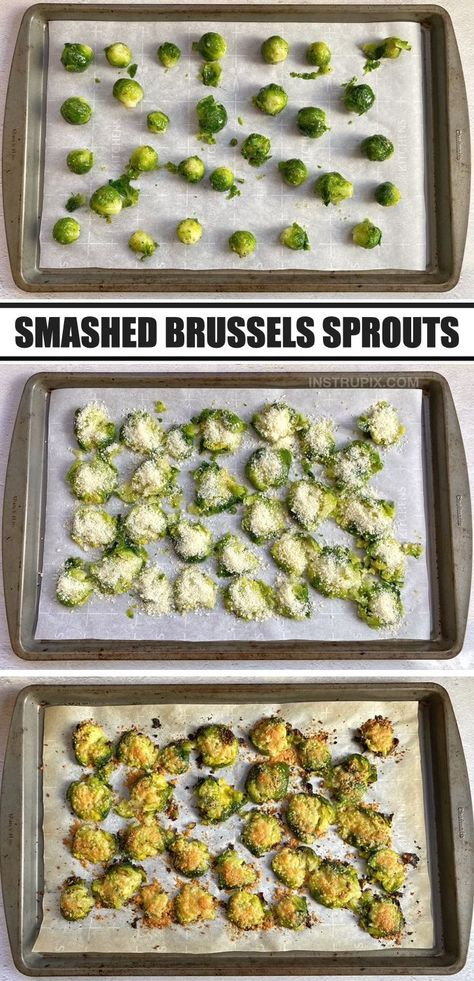 If you're looking for simple low carb side dish recipes for dinner, these roasted brussels sprouts are absolutely amazing! The key to making the best brussels sprouts is to simply steam them, smash them and then roast them. The smashing process eliminates the squishy middle, giving you more of that crispy and toasted outer layer. Family approved! Even my picky kids love this amazing vegetable. Super yummy served with just about any meal including chicken, steak, bbq or seafood.