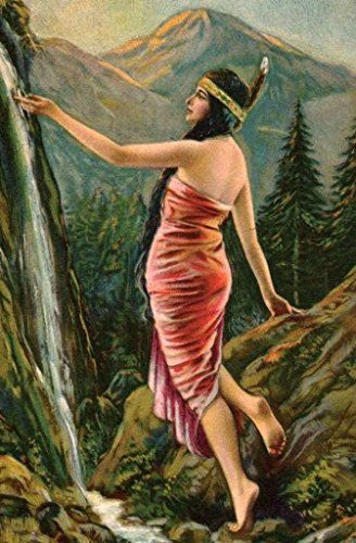 Indian Motorcycle Pretty Maiden Girl Nude Fine-Art Print NEW 2018 REVISION L@@K
