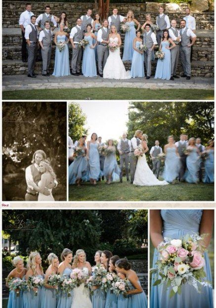 Wedding Colors Blue Gray Bridal Parties 21+ New Ideas