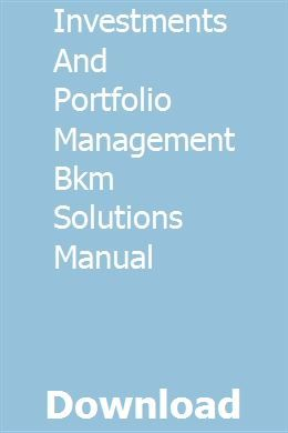 Investment science solutions manual pdf investment sub-advisory agreement