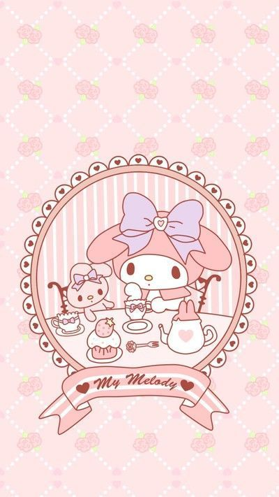 My Melody Hello Kitty My Melody My Melody Wallpaper Wallpaper Iphone Cute