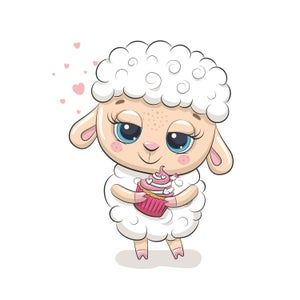 Farm Animal Illustration Watercolor Baby Dog Cat Sheep Horse Etsy In 2021 Baby Sheep Cute Sheep Animal Clipart