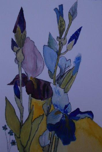 Aquarelle Iris Par Antoine Scavone Aquarelle Iris Fleur Dessin