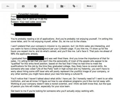 We Found The Worst Cover Letter Ever—And We Couldn'T Keep It To