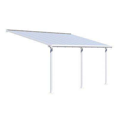Palram Olympia Plastic Standard Patio Awning Wayfair In 2020 Diy Awning Patio Awning Diy Patio Cover