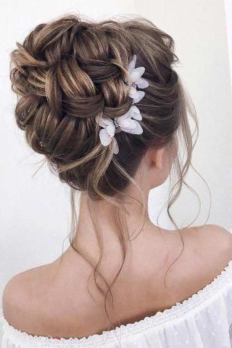 Evening Hairstyles For Medium Hair Half Up Wedding Hairstyles Elegant Hairstyles For Short H Wedding Bun Hairstyles Long Hair Wedding Styles Long Hair Updo